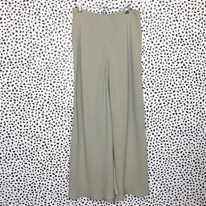 Giorgio Armani Warm Gray Silk Maxi Skirt